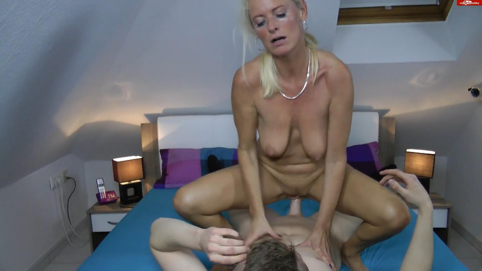Beautiful blonde mature pussy